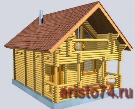 Гостевой домик из оцилиндрованного бревна